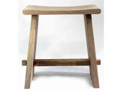 Stool Wood Natural 42X25Xh45Cm