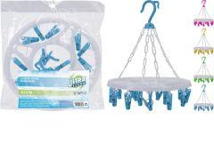 Washanger 16 Knijpers 4 Assortiment Per Stuk
