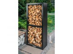 Quan Garden Art Quadro Basic Line Wood Storage 80X40Cm H180Cm Carbon Zwart