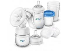 AVENT NATURAL MANUELE BORSTPOMP STARTER SET