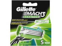 Gillette Mach 3 Sensitive Mesjes 5St