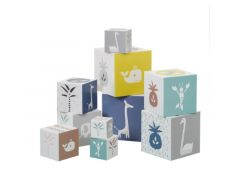 Fresk Blokkenset (10 Blokken) Giraf/Zwaan