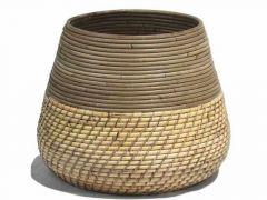 Basket Lombok Grey/Blond D27/40Xh33Cm