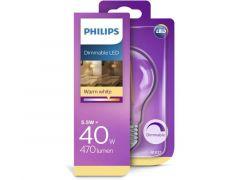 Phil, Led A60 Fil. 40W 4,5W 470Lm Dimm, Ww