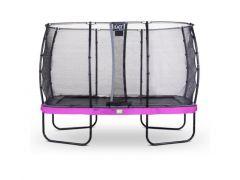 Exit Elegant Premium Trampoline Rect. 244X427Cm + Safetynet Deluxe Purple