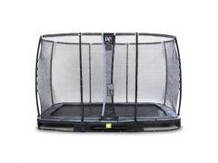 Exit Elegant Ground Premium Trampoline Rect. 244X427Cm + Safetynet Deluxe Black