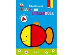 Mijn Allereerste Kleur- En Stickerboek Vis