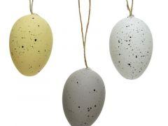 Plc Egg Speckle W Hanger 3Clas Assorted Dia4X6Cm