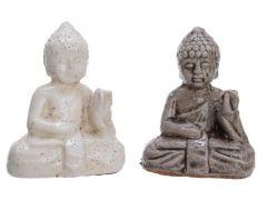 Terra Buddha 2Col Ass Assorted 8.5X5X10.5Cm