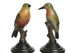 Poly Bird On Stand 2Ass Multi 8X8X16Cm