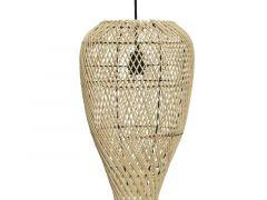 Rattan Floor Lamp Natural Dia25X50Cm