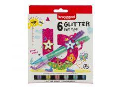 Bzl Viltstiften Glitter Set 6#
