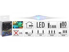 K Ledverlichting Op Zilverdraad, Binnen, 80 Micro Led Multikleur