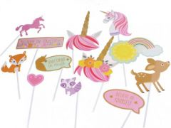 Photo Props Kit Magical Unicorn 12-Delig