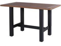 Sophie Bar Table 180X100X110Cm Vintage Brown Teak/Carbon Black