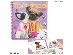 Topmodel Create Your Doggy Colouring