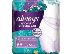 Always Discreet Pants 5 Drops Med. 12St