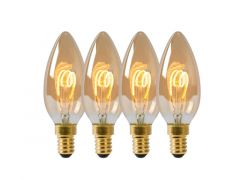 Lucide Lamp Led Filament Kaars4X 3W 115M 2200K Amber