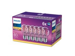 Philips Lampled Classic 40W A60 E27 Ww Cl Nd 6Ct/4
