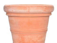 Bloempot D30Xh25Cm Terracotta White Washed