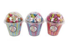 Houten Kralen Met Accessoires In Cupcake