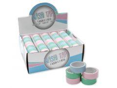 Washi Tape Pastel 5/Roll Assortiment 3M Prijs Per Stuk