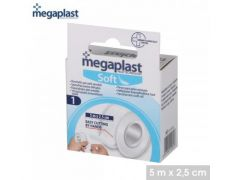 Megaplast - Soft - Sparadraps Blanc Tnt X1Pcs 5Mtr X 2,5Cm