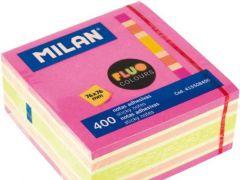Milan Neon Kleefblaadjes Blok 400 Blad 76X76Mm