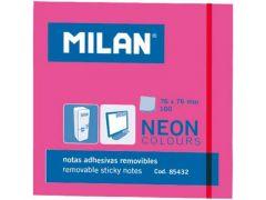 Milan Kleefblaadjes 100Blad 76X76Mm Neon Roos