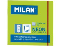 Milan Kleefblaadjes 100Blad 76X76Mm Neon Groen