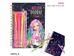 Topmodel Neon Doodle Kleurboek Met Neon Stiften