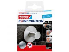 Tesa Powerbutton - Classic Haak Rvs Rond
