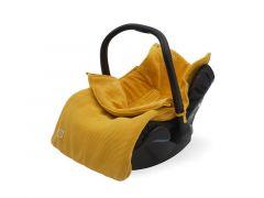 Jollein Voetenzak Autostoel Groep 0+ 3/5 Puntsgordel Basic Knit Ocher