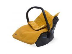 Jollein Voetenzak Autostoel Groep 0+ 3/5 Puntsgordel Basic Knit Velvet Mustard