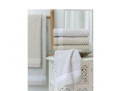 Duplex Handdoek 50X100 Linen Col 1 Wit