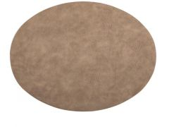 Placemat Troja - Oval, 33X45Cm, Taupe