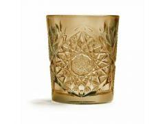 Beker Glas Wiskey 35.5Cl Oker Per Stuk