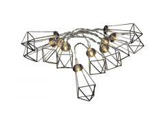 Led Lichtsnoer Met 10 Metalen Robijnen Zilver 90X120Cm