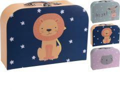 Kinder Koffer 30X21X9.5Cm 3 Assortiment Prijs Per Stuk/Kleur
