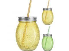 Drinkglas Met Rietje 500Ml 2 Assortiment Prijs Per Stuk/Kleur