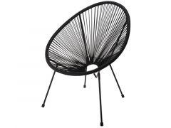 Loungestoel Metaal Zwart Frame