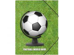Elastomap A4 Football World Wide Met Elastiek