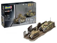 Rev 03278 Char B.1 Bis & Renault Ft. 17