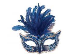 Loup Venetiaans Pluimen Blauw