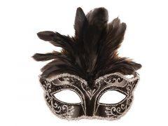 Loup Venetiaans Pluimen Zwart