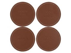 4 Faux Leather Onderleggers