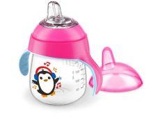 Avent Lekvrije Pinguin Beker 260Ml Roze
