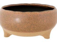 Bowl On Feet Bruin 20X20Xh9,5Cm Rond Aar