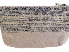 Make-Up Bag Blue Creme 19X5Xh13Cm Polyes