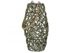 Lantaarn Rope Groen 17X17Xh30Cm Rond